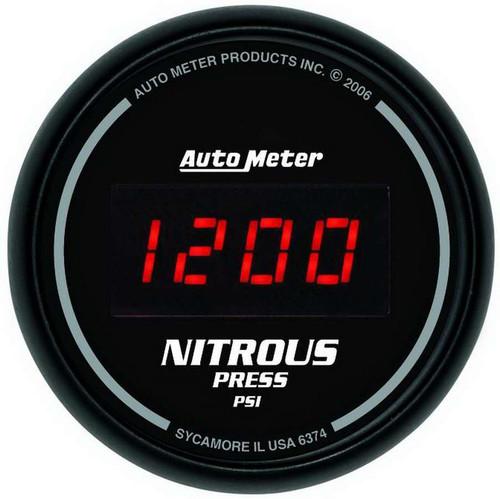 Autometer 6374 2-1/16in DG/B Nitrous Pressure Gauge