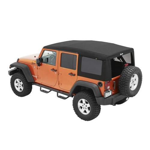 Bestop 54724-17 Supertop Ultra Black Twi ll 07-18 Jeep JK 4 Door