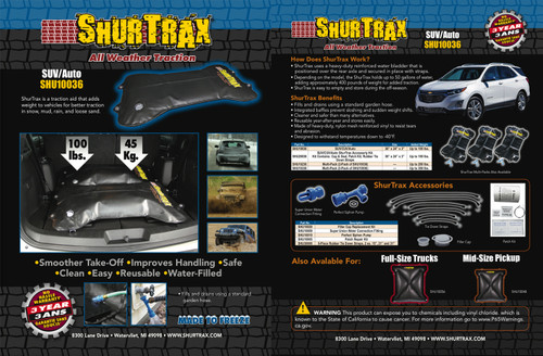 Shurtrax 101 SUV/Auto Sell Sheet