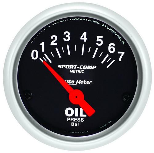 Autometer 3327-M 2in Mini S/C Oil Pressure Gauge - Metric