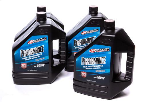 Maxima Racing Oils 39-369128 50w Petroleum Oil Case 4 x 1 Gallon