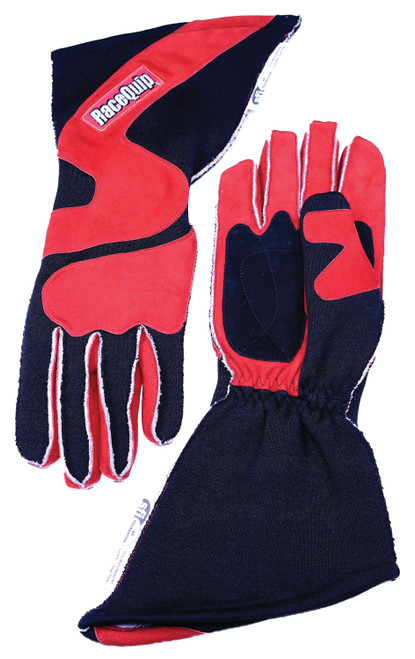 Racequip 359103 Gloves Outseam Black/Red Medium SFI-5