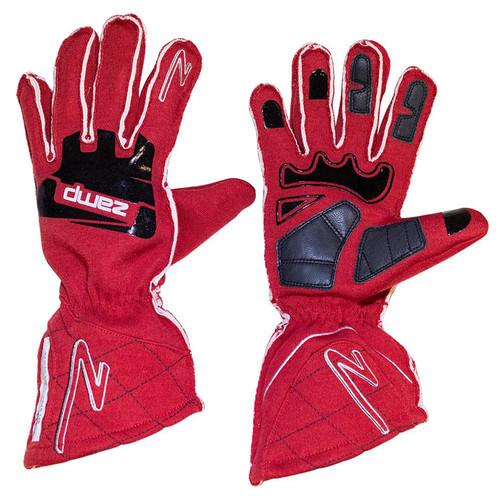Zamp RG10002L Gloves ZR-50 Red Large Multi-Layer SFI 3.3/5