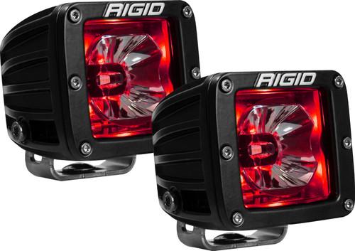 Rigid Industries 20202 LED Light Pair Radiance Pod Red Backlight