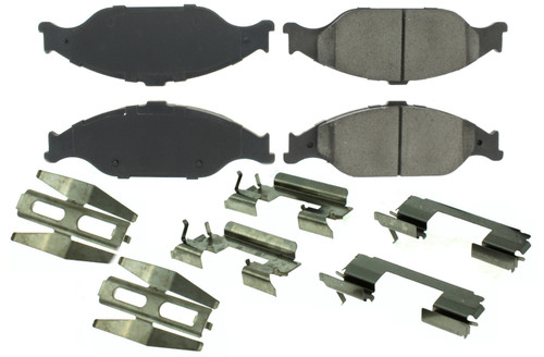 Centric Brake Parts 104.08040 Posi-Quiet Semi-Metallic Brake Pads with Hardwar