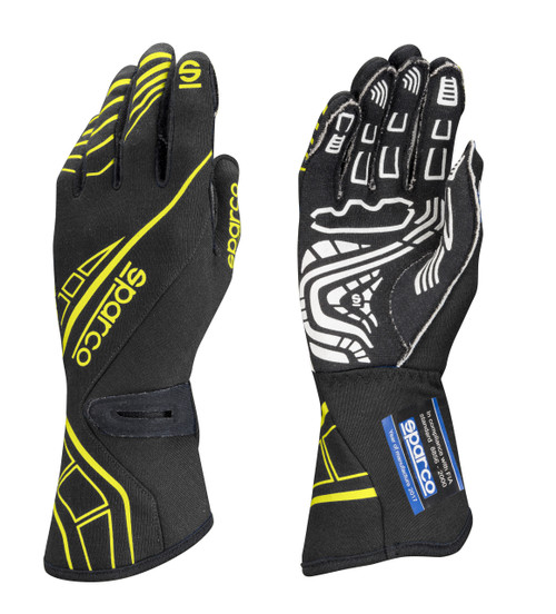 Sparco 00131112NRGF Glove Lap RG-5 X-Large Black / Yellow