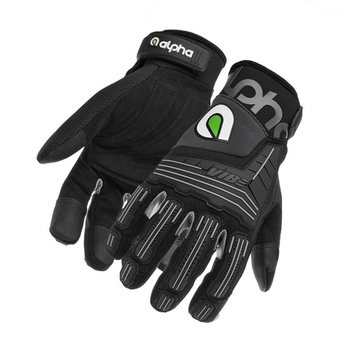 Alpha Gloves AG03-01-XL VIBE Impact Black X-Large