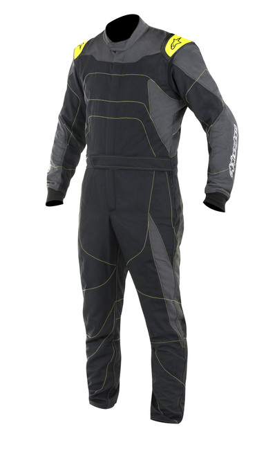 Alpinestars Usa 3355117-1155-56 GP Race Suit Large Black Fluo Yellow