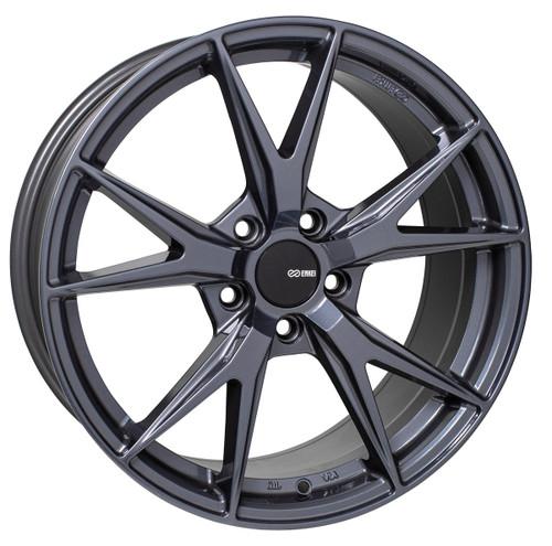 Enkei 523-880-4445BGM Phoenix Blue Gunmetal Performance Wheel 18x8 5x112 45mm Offset 72.6mm Bore