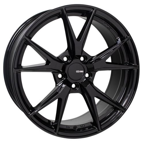 Enkei 523-880-4445BK Phoenix Gloss Black Performance Wheel 18x8 5x112 45mm Offset 72.6mm Bore