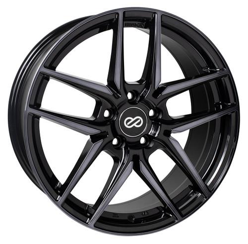 Enkei 524-775-8045MBM Icon Pearl Black with Machined Spoke Performance Wheel 17x7.5 5x100 45mm Offse