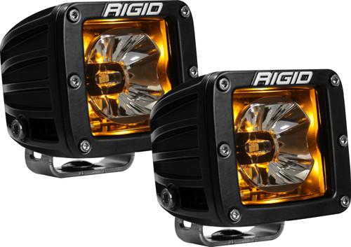 Rigid Industries 20204 LED Light Pair Radiance Pod Amber Backlight