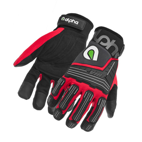 Alpha Gloves AG03-02-XL VIBE Impact Red X-Large
