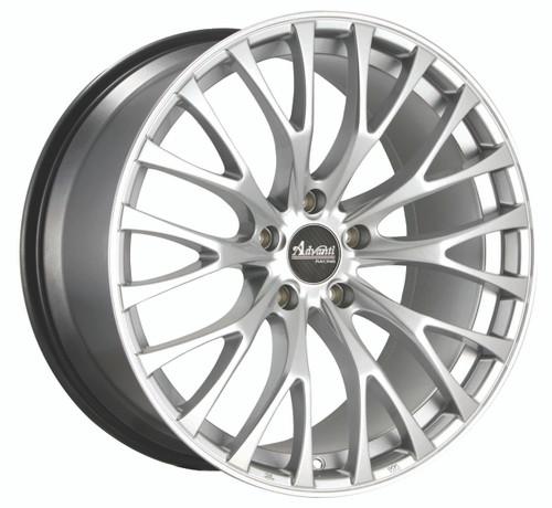 Advanti Racing FS8851235S Fastoso 18x8 5x112 35mm Offset Silver W/Machined Undercut Wheel