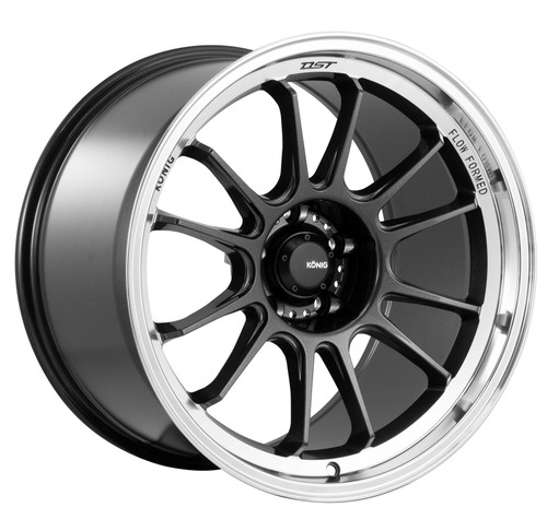 Konig HG97510406 Hypergram 17x9 5x100 40mm Offset Metallic Carbon W/ Machined Lip Wheel