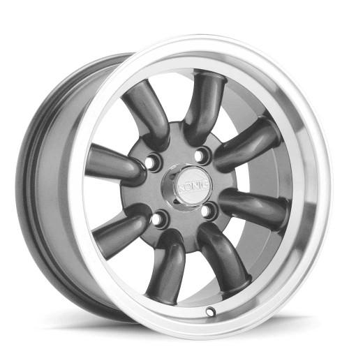 Konig RW75100206 Rewind 15x7 4x100 20mm Offset Graphite_Machine_Lip Wheel