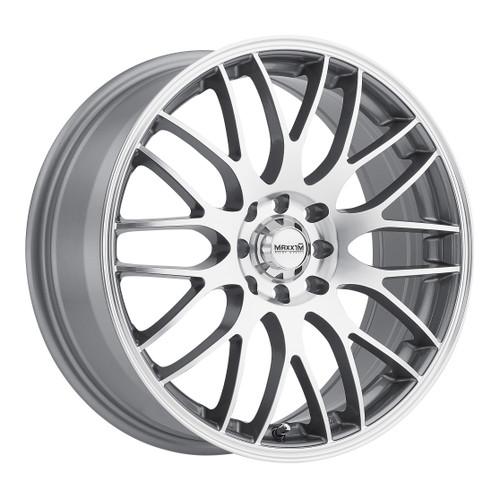 Maxxim MZ87T0445M Maze 18x7.5 10x100 10x114.3 45mm Offset Silver/Machine Face Wheel