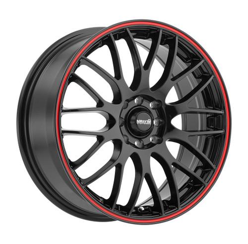 Maxxim MZ87T15455 Maze 18x7.5 10x110 10x115 45mm Offset Black/Red Stripe Wheel