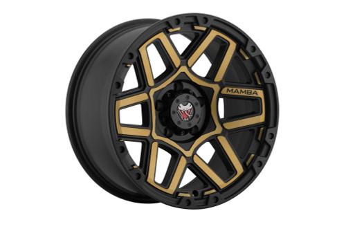 Mamba M232950128 M23 20x9 5x150 12mm Offset Matte Black W/ Bronze Face Wheel