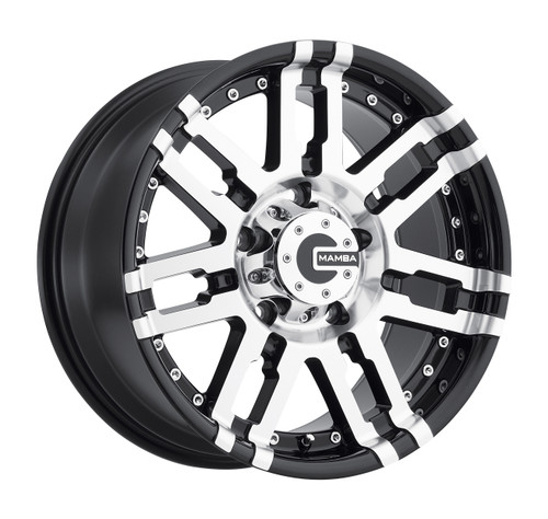 Mamba M2X788325B M2X 17x8 6x139.7 25mm Offset Gloss Black Machined Wheel