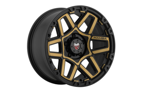 Mamba M237985128 M23 17x9 5x139.7 12mm Offset Matte Black W/ Bronze Face Wheel
