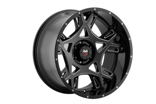 Mamba M242936125 M24 20x9 6x135 12mm Offset Gloss Black W/ Ball Cut Accents Wheel
