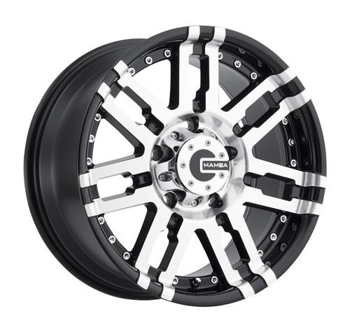 Mamba M2X788310B M2X 17x8 6x139.7 10mm Offset Gloss Black Machined Wheel