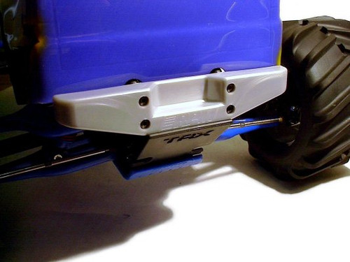 RPM R/C Products 80096 E/T MAXX SILVER RR STEP BUMPER