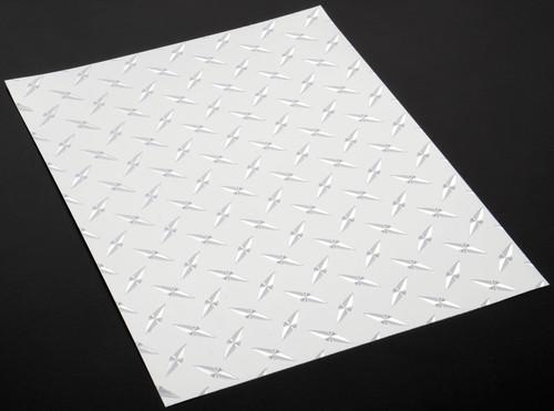 """XXX Main Racing V019C Chrome Diamond Plate Decal 8"""" x 11"""""""