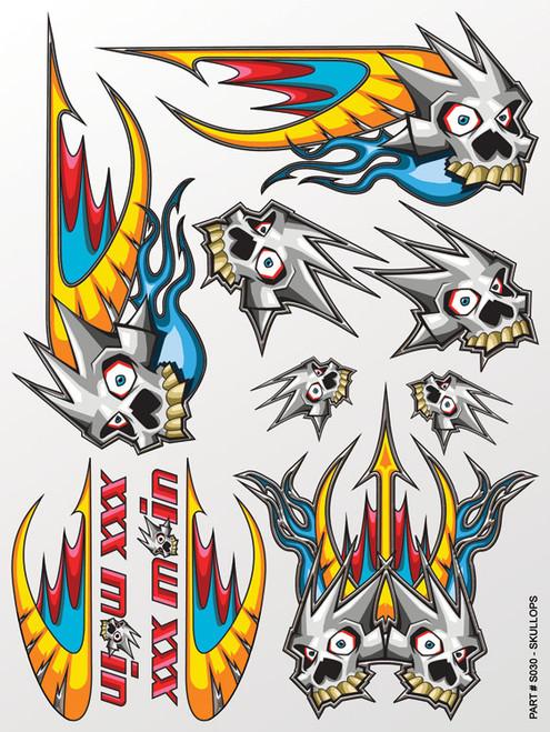 XXX Main Racing S030 Skullops Sticker Sheet