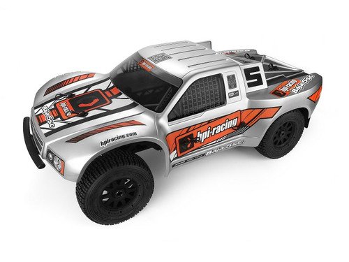 HPI Racing 110676 Baja 5SC-1 Truck Painted Body (Matte Silver)