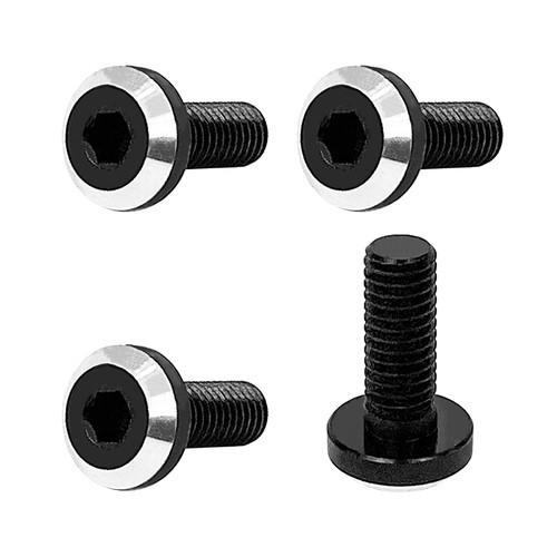 1UP Racing 80902 Perfect Center UltraLite Alum Screws, 3mm Neck, M3x8, 4pcs