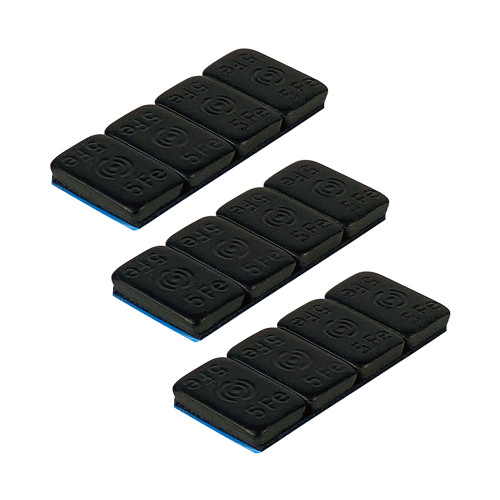 1UP Racing 10102 LowPro Stick-On 5g Ballast Weights, Black, 12pcs