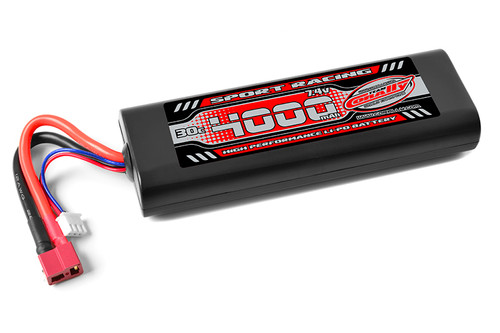 Corally 49024-D 4000mAh 7.4v 2S 30C Hardcase LiPo Battery with Hardwired