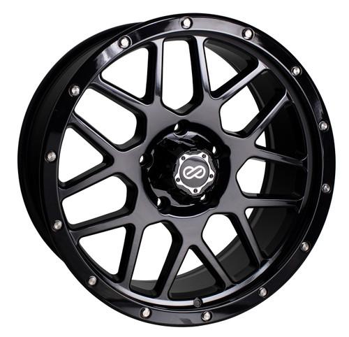 Enkei 526-290-5825BK Matrix Gloss Black Truck Wheel 20x9 5x150 25mm Offset 110mm Bore