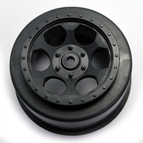 DE Racing SCTLRB Trinidad SC Wheels Fits Losi XXX-SCT Rear Black