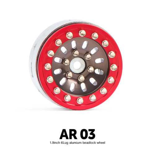 Gmade 70377 1.9 AR03 6 Lug Aluminum beadlock wheels (2)
