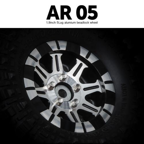 Gmade 70424 1.9 AR05 5 Lug Aluminum Beadlock wheels (2)