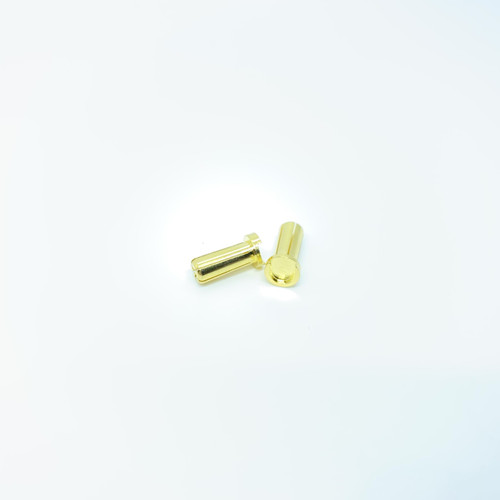 Maclan Racing MCL4216 Maclan MAX Current 5mm Low Profile Gold Bullet Connectors