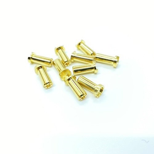 Maclan Racing MCL4217 Maclan MAX Current 5mm Low Profile Gold Bullet Connectors