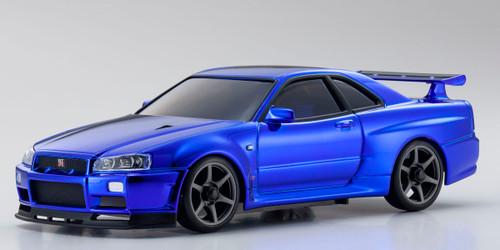 Kyosho MZP427CBL Nissan Skyline GT-R-V Spec II (R34) Chrome Blue Special