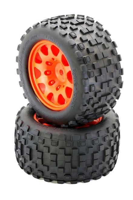 Power Hobby PHT3275ORANGE Powerhobby SCORPION XL Belted Tires / Viper Wheels (2)