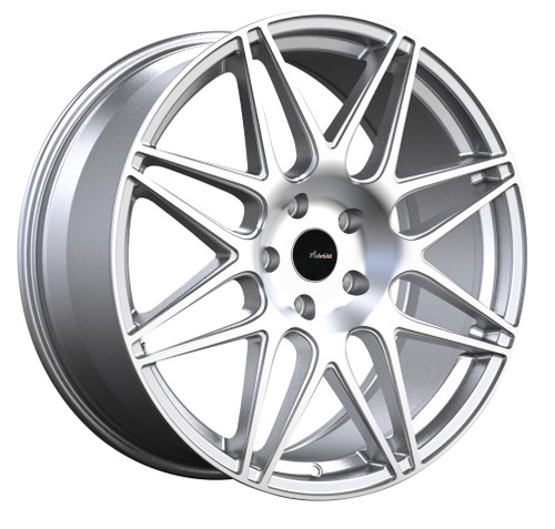 Advanti Racing CL8951035S Classe 18x9 5x100 35mm Offset Silver Machine Face Wheel