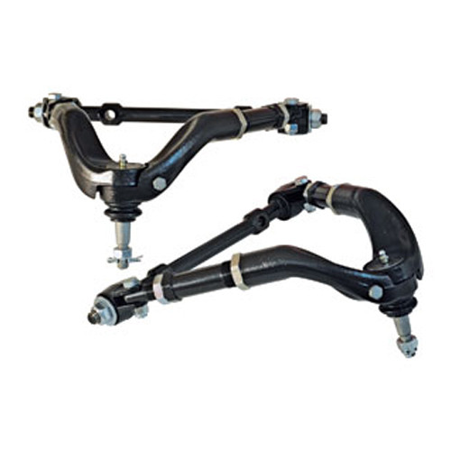 SPC Performance 97120 Control Arm - Tubular - Upper - Adjustable - Screw-In Ball Joint - Steel - Black Paint - GM F-Body 1967-69 - Pair