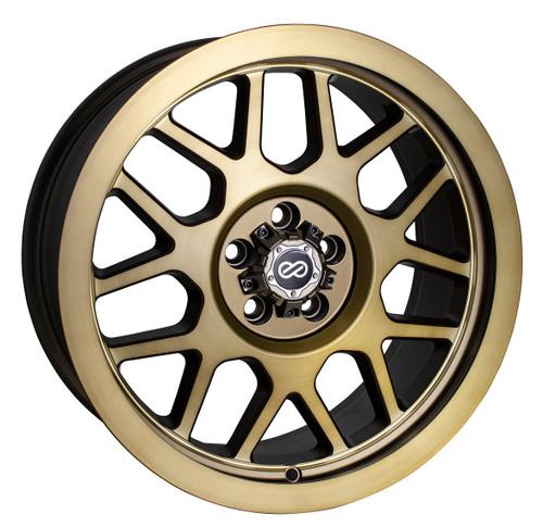 Enkei 526-780-8030BG Matrix Brushed Gold Truck Wheel 17x8 5x100 30mm Offset 71.6mm Bore