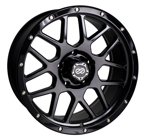 Enkei 526-890-84N10BK Matrix Gloss Black Truck Wheel 18x9 6x139.7 -10mm Offset 108mm Bore