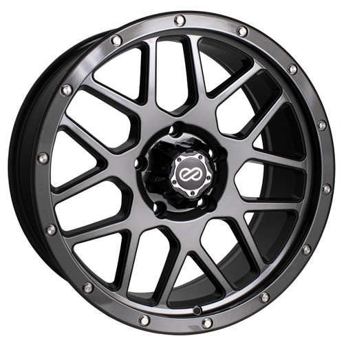 Enkei 526-890-84N10GM Matrix Gloss Gunmetal Truck Wheel 18x9 6x139.7 -10mm Offset 108mm Bore