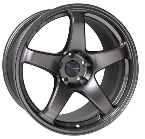 Enkei 527-880-4450DS PF05 Dark Silver Racing Wheel 18x8 5x112 50mm Offset 75mm Bore