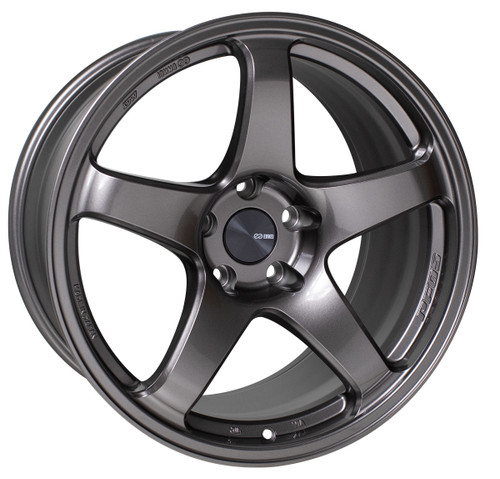 Enkei 527-990-6525DS PF05 Dark Silver Racing Wheel 19x9 5x114.3 25mm Offset 75mm Bore