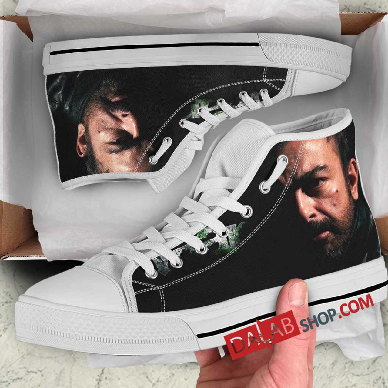 Netflix Movie Waar N 3D Customized Personalized High Top Shoes